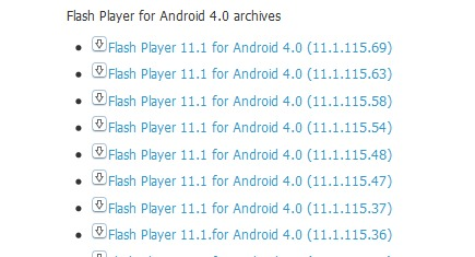 Устанавливаем Flash Player на Android Jelly Bean